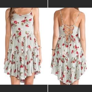 Free People Circle of Flowers Slip Dress